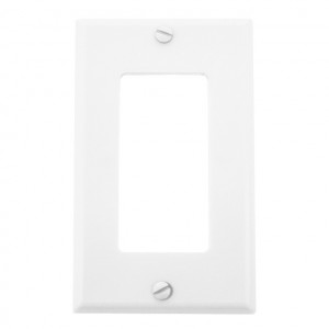 Single Gang White Plastic Wall Plate