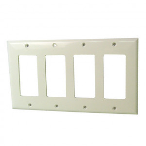 Triple Gang White Plastic Wall Plate