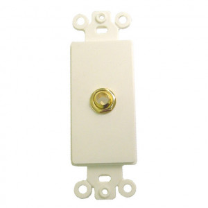 """1/4"""" Gold Plated Stereo Jack with Plastic Insert"""