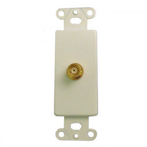 50 Ohm Gold Plated BNC Female Jack with White Metal Insert