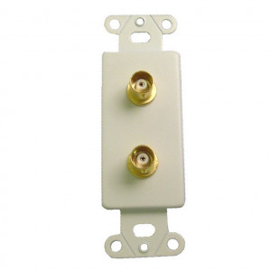 50 Ohm Gold Plated BNC Female Jacks with White Metal Insert