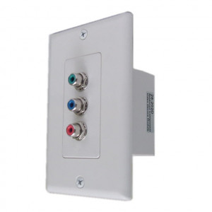 Component Video Balun Over CAT 5 with Wall Plate