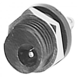 2.5mm Coax Power Jack, Plastic Chassis Mount