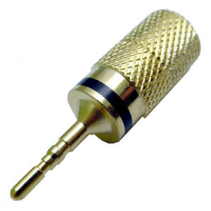 Gold Plated Pin Plug, Black