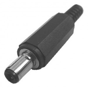 Locking 2.5mm Inline Coax Power Plug with Strain Relief