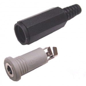 4 Conductor 3.5mm Inline Stereo Jack with Strain Relief
