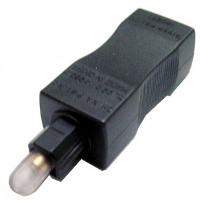 Fiber Optic Toslink Male to 3.5mm Female Adapter
