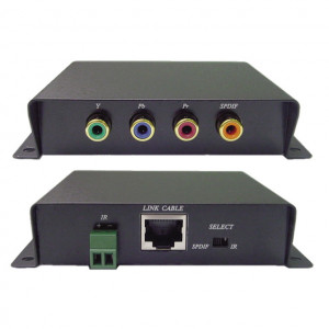 Component Video, Digital Audio and IR Balun Over Cat 5e (Pair)