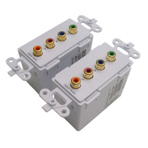 Component Video, Digital Audio Wall Plate Balun Over Cat 5e (Pair)