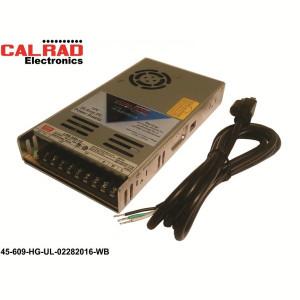 45-609-HG-UL  Slim Line 12VDC, 29Amps Power Supply