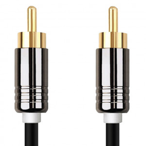 High Grade RCA Plug to RCA Plug, Gold Plated Plugs. 10 Ft. Long.