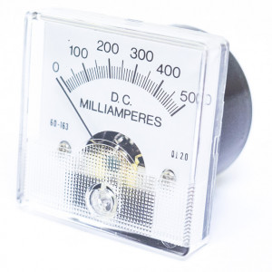 0-500 mA DC, 1 3/4 Inch Panel Meter