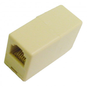 Ivory Modular Coupler 6 Wire for Data