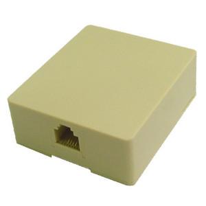 Ivory Surface Jack Assembly, STD 6 Wire