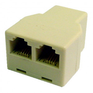 """Ivory 3 Way 4 Wire Modular """"T"""" Connectors"""