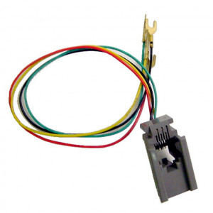 Modular 4 Wire Line Cord Chassis Jack with Wire Lugs