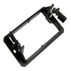 Black Single Gang Plastic Flush Mount Wall Bracket with Adjustable Locking Tabs