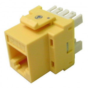 Yellow RJ45 Keystone Jack, CAT 5e