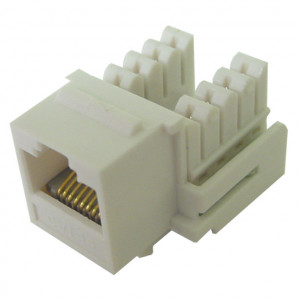Yellow RJ45 90 Degree Keystone Jack, CAT 5e