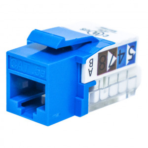 Red RJ45 Tool-Less Keystone Jack, CAT 5e