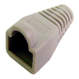 White Snag-Less Rubber Boot for Round RJ45 Cable