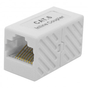 White CAT 6 Inline Coupler