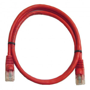 Red RJ45 Snagless Cable - 350 MHz CAT 5e, 5 Ft. Long