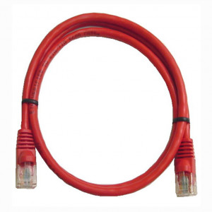 Red RJ45 Snagless Cable - 1 GHz CAT 6, 5 Ft. Long