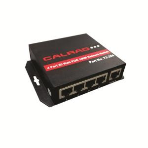 72-204, 4 Port, 60 Watt PoE 100Mb Network Switch (Plug & Play)