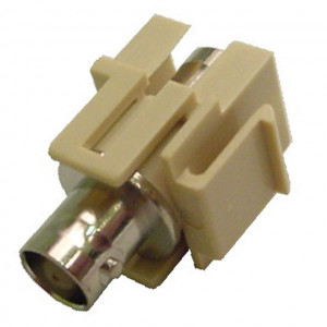 White BNC Female Keystone Insert, 50 Ohm