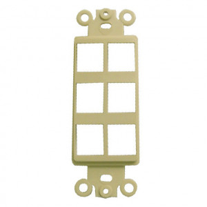 1 Port Cavity, Ivory Designer Style Keystone Wall Plate Insert