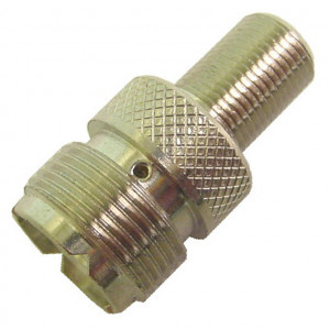 "UHF Female to ""F"" Female Adapter"