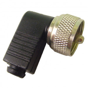 Right Angle UHF Male Connector for Coax Cable