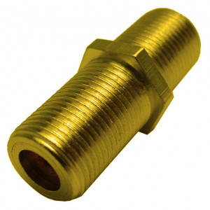 "F-81, ""F"" to ""F"" Type Coupler Mounts in 3/8"" Hole, 2GHz, Gold Plated"