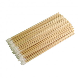 Wooden Handle Pointed Tip Cotton Swabs 6 in. Long
