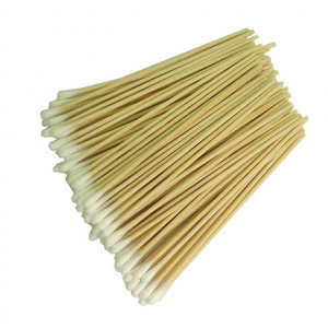 Wooden Handle Round Tip Cotton Swabs 6 in. Long