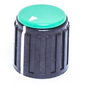"9/16"" Dia. Black Base with Green Cap Knob"