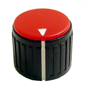"3/4"" Dia. Black Base with Red Cap Knob"