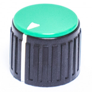 "3/4"" Dia. Black Base with Green Cap Knob"