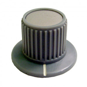 """1 7/16"""" Dia. Grey Knurled Control Knob without Numbers"""