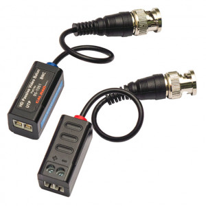 "95-1051 Passive HD Single Channel Video Balun (CVI, TVI, Analog Video) with 3"" Pigtail"
