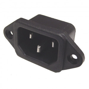 Chassis Mount AC Male Socket
