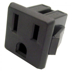 3 Prong Chassis Mount AC Receptacle